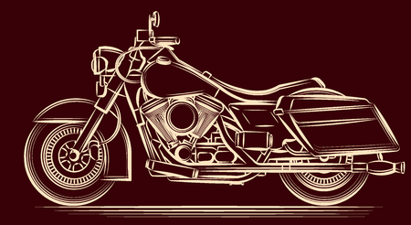 a motorcycle: motorcycle
