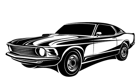 muscles: Car vector illustration