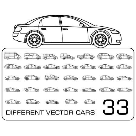 Cars icons big set