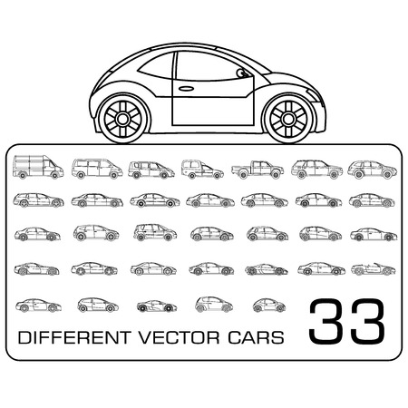Vehículos establecen Ilustración de vector