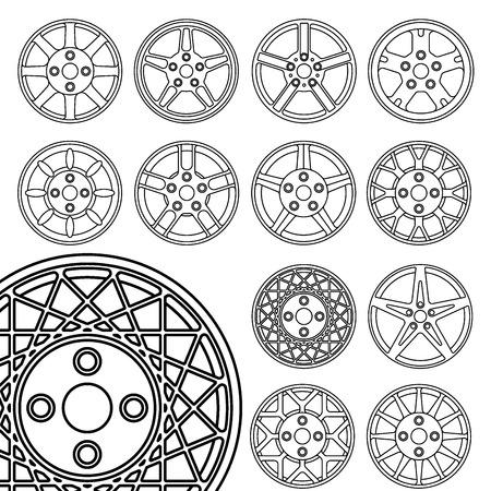 Wheels set, rims