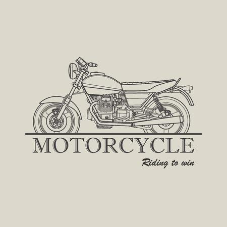 moto: Moto poster icon retro illustration