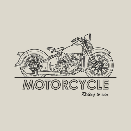 Motorcycle old poster illustration vector
