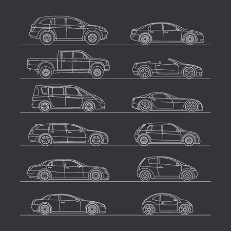 mini bike: car icon set vector illustration