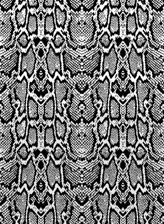 Tekstury skóry węża. Jednolite wzór czarno na białym tle