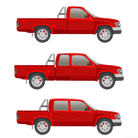 transference: Pickup truck illustration blueprint
