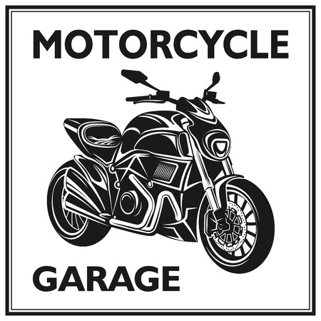motorcycling: vintage motorcycling quality label set