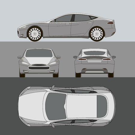 Car all view top side back front royalty free cliparts vectors 58812767 car line draw insurance rent damage condition report form blueprint malvernweather Image collections