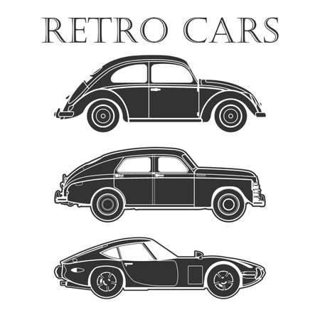sports cars: car retro vector poster illustrations Illustration