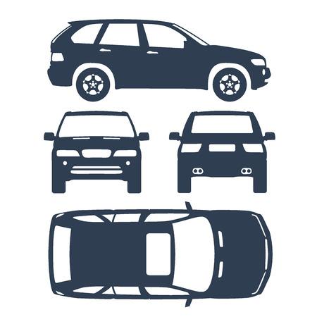 Auto lijn trekken verzekeringen, huur schade, conditie meldingsformulier Vector Illustratie