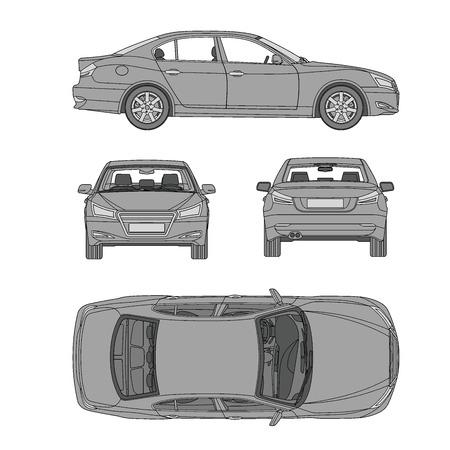 자동차 라인 그리기 보험, 임대 손상, 상태 보고서 양식 청사진