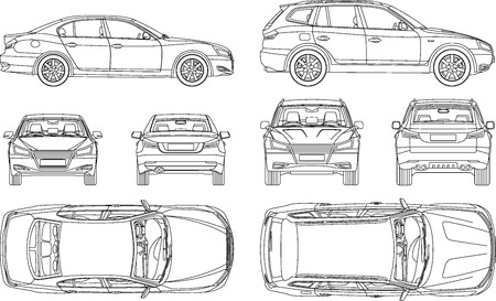 Car Blueprint Stock Photos. Royalty Free Car Blueprint Images