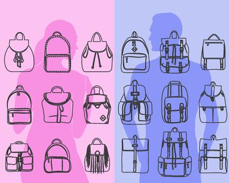 유행 남자와 가방 도시 배낭 가방, 어깨에 매는 가방, 여행 가방
