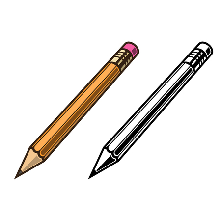 pensil: Pensil set on white background vector illustration
