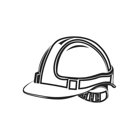 construction helmet: Industrial workers icon safety helmet construction icon