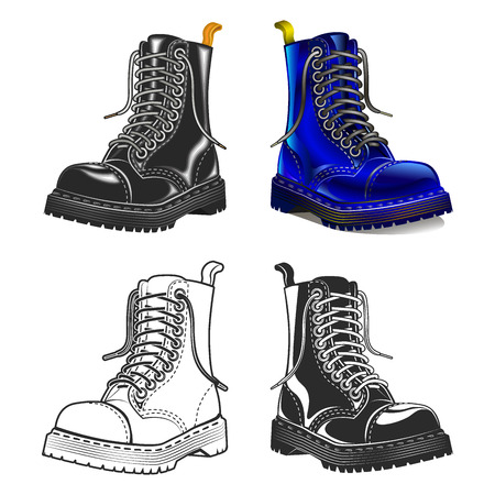 Black boot icon. Creative design elements. Great quality vector illustration.