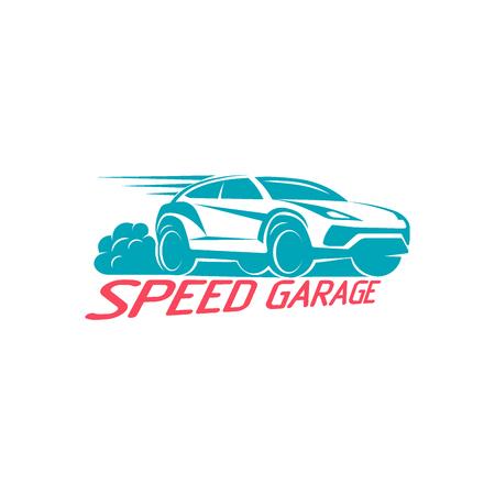 car speed: Car speed garage emblem Template Design Vector illustration Illustration