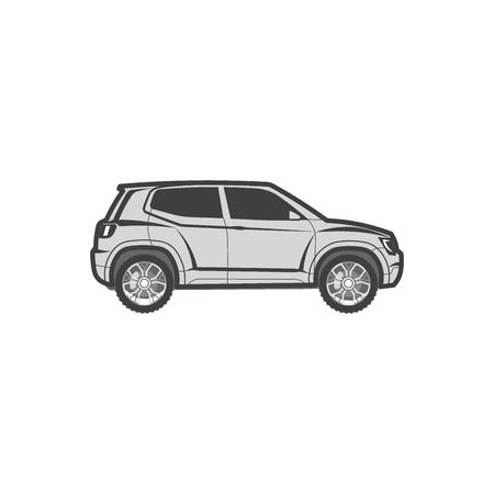 suv modern off-road, sport utility crossover vector