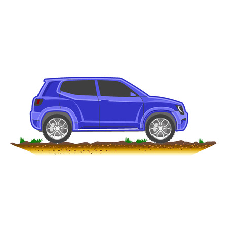 chassis: suv modern off-road, sport utility crossover vector
