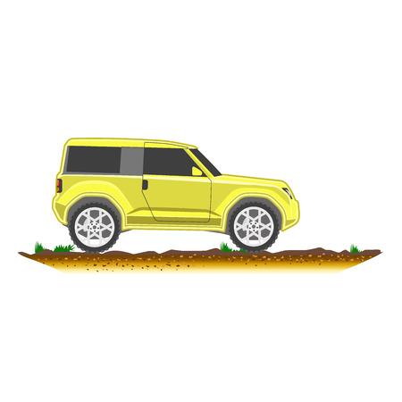 crossover: suv modern off-road, sport utility crossover vector