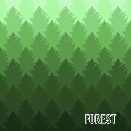 double exposure: Vintage forest tree design silhouette vector illustration Illustration