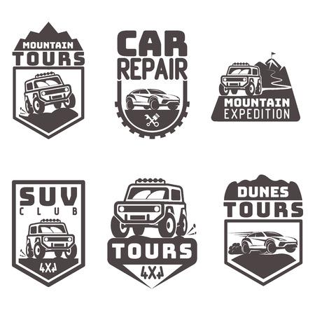 4x4: suv 4x4 off-road Icon logo template vector illustration Illustration