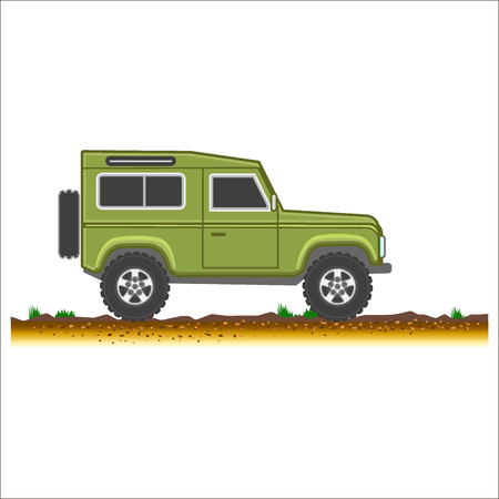 4x4: suv colored icon car 4x4 off-road vector illustration