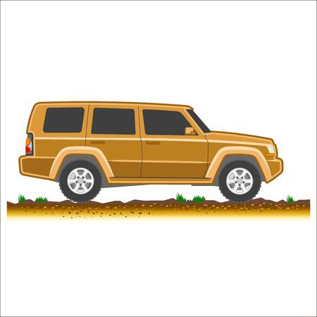 4x4: suv colored icon car 4x4 off-road vector illustration