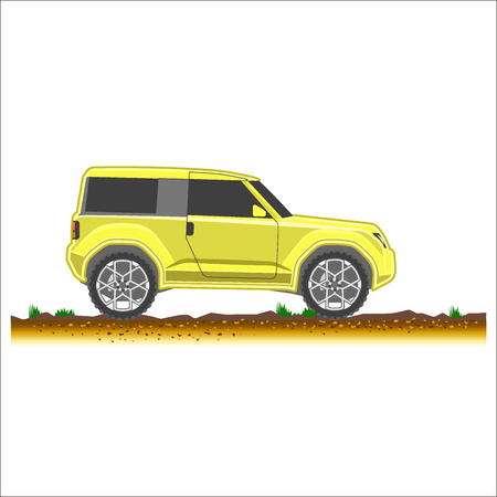 suv colored icon car 4x4 off-road vector illustration