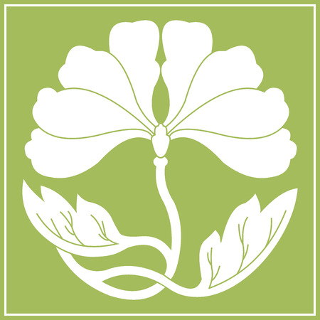 illustraton: lotus flower white flat simlpe vector illustraton