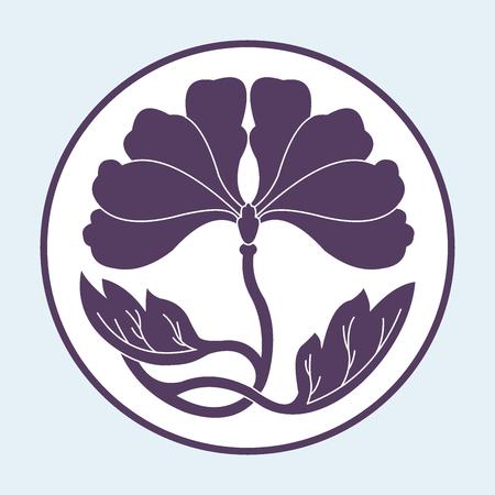 illustraton: flower on white background flat simlpe vector illustraton Illustration