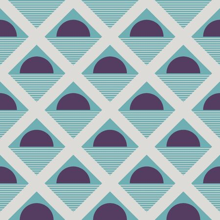 visuddha: Abstract geometric ethnic background, half round patterns and triangles. Oriental seamless pattern Illustration