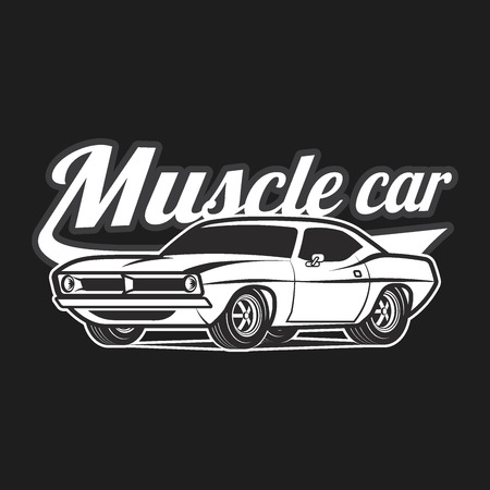 muscle car: Muscle car vector poster illustration Illustration