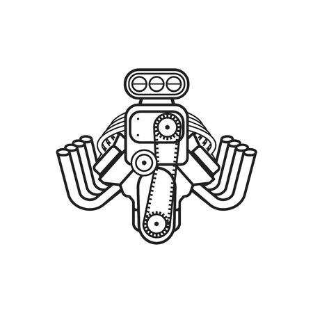 speedster: engine hot rod muscle car speedster icon