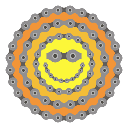 bicycle chain part quality vector illustration on white background