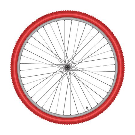 spoke: bicycle wheel on white background quality vector illustration