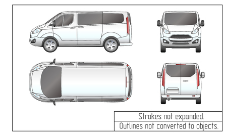 auto van tekening schetst niet geconverteerd naar objecten