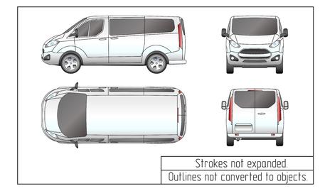 voiture van dessin décrit pas converti en objets