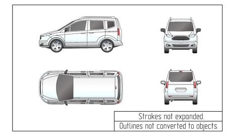 Car van drawing outlines not converted to objects royalty free 69138588 car van drawing outlines not converted to objects malvernweather Choice Image