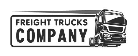 Truck auto lading vracht embleemmalplaatje illustaration Stock Illustratie