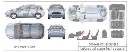 Car hatchback interior parts.
