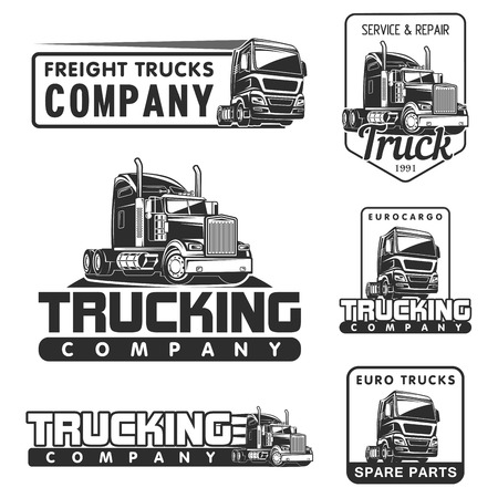 big truck car logo illustration vector design