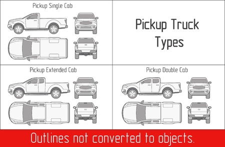 car truck pickup drawing outline strokes not expanded