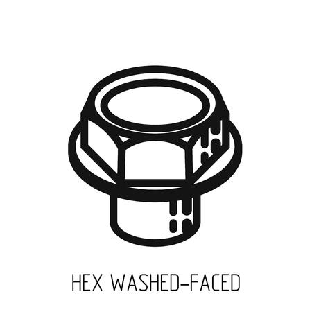 bolt full head outline icon Ilustração Vetorial