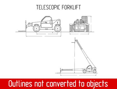 Manipulador telescópico com fork dimensões globais modelo modelo