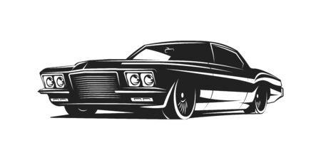 Muscle car vector poster Zdjęcie Seryjne