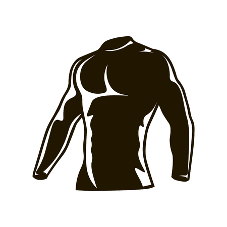 Men Cycling Winter fleece Thermal Compression Top. Illustration