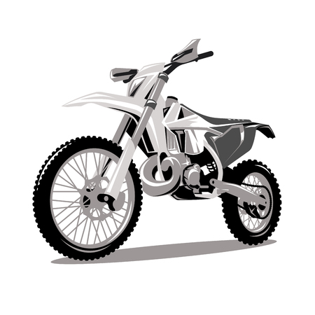 Motorcycle cross jumping graphic vector Vectores