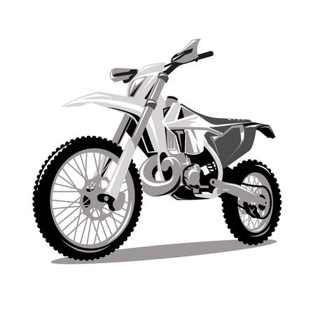 Vector gráfico de salto de cruz de motocicleta