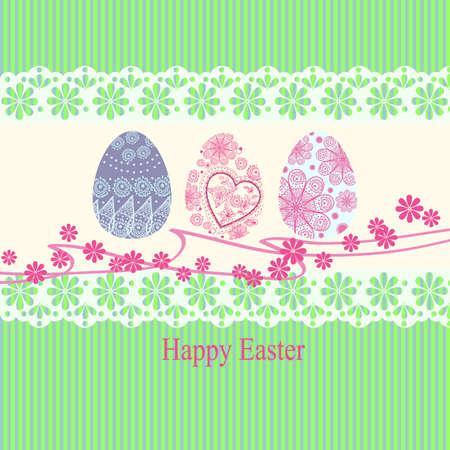 paskha:  Easter egg made of flowers, floral Easter egg background Illustration